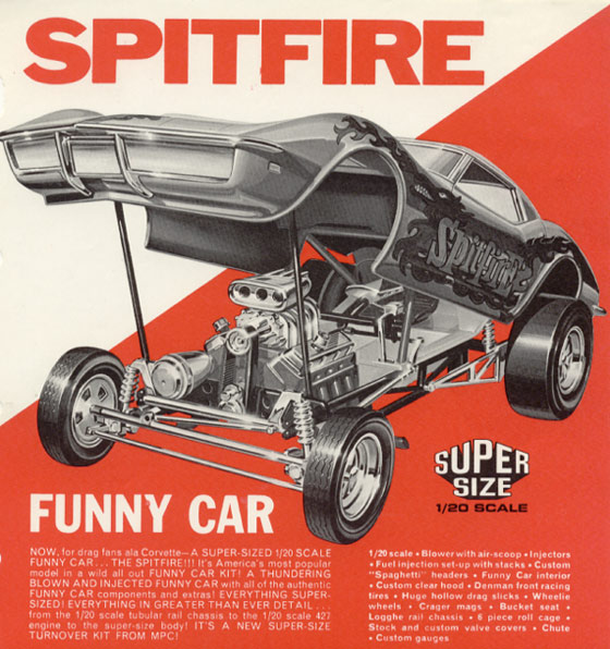 Classic Funny Car Board: Model Car Ads & Fliers