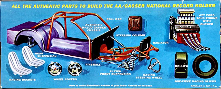 MPC  800 Ohio George Malco Gasser 1967 Mustang model kit 1//25 white NISB